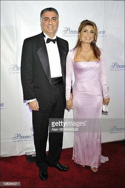 Prince Reza Pahlavi son of the Shah of Iran and his wife Jasmine in New York United States on October 15th 2008