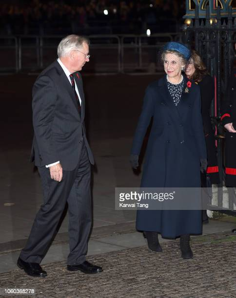 Prince Richard Duke of Gloucester and Birgitte Duchess of Gloucester attend the Centenary Of The Armistice Service at Westminster Abbey on November...