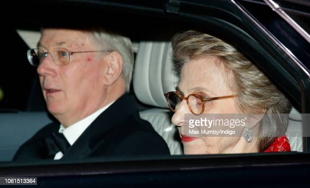 Prince Richard, Duke of Gloucester and Birgitte, Duchess of Gloucester leave Kensington Palace to attend Prince Charles, Prince of Wales' 70th...