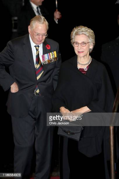 Prince Richard Duke of Gloucester and Birgitte Duchess of Gloucester attend the annual Royal British Legion Festival of Remembrance at the Royal...