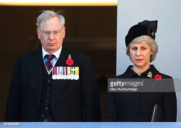 Prince Richard, Duke of Gloucester and Birgitte, Duchess of Gloucester attend the annual Remembrance Sunday Service at the Cenotaph on November 10,...