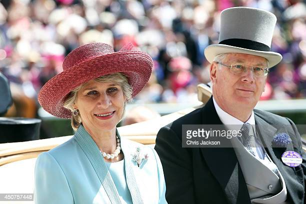 Prince Richard Duke of Gloucester and Birgitte Duchess of Gloucester attend day one of Royal Ascot at Ascot Racecourse on June 17 2014 in Ascot...