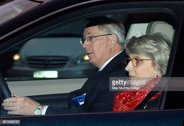 Prince Richard, Duke of Gloucester and Birgitte, Duchess of Gloucester attend a Christmas lunch for members of the Royal Family hosted by Queen...
