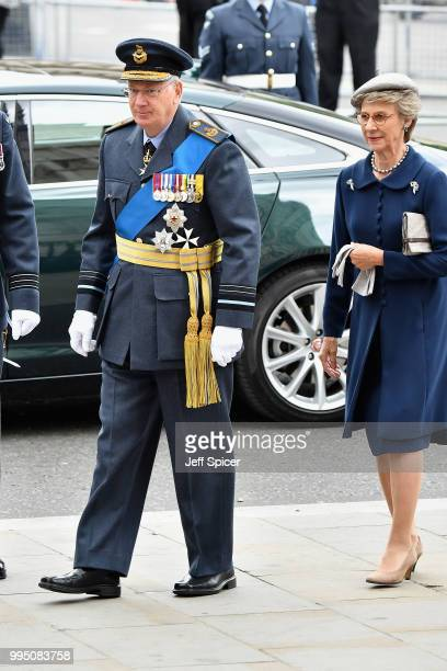 Prince Richard, Duke of Gloucester and Birgitte, Duchess of Gloucester attend as members of the Royal Family attend events to mark the centenary of...
