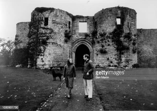 Prince Richard Duke of Gloucester and Birgitte the Danish born Duchess of Gloucester outside Barnwell Manor their country home December 20 1978