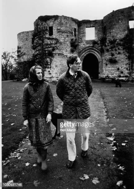 Prince Richard Duke of Gloucester and Birgitte the Danish born Duchess of Gloucester strolling outside Barnwell Manor December 20 1978