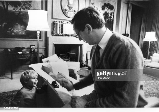 Prince Richard Duke of Gloucester and his son Alexander Earl of Ulster at Barnwell Manor December 20 1978