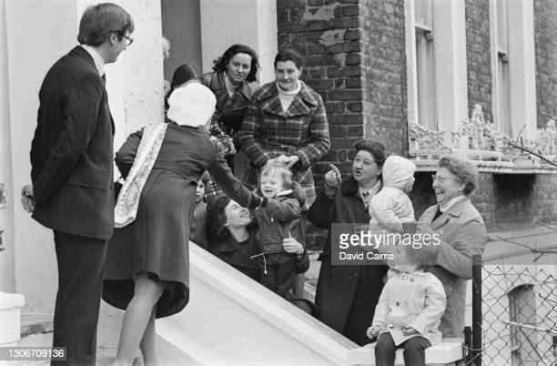 Prince Richard, Duke of Gloucester and his wife, Birgitte, Duchess of Gloucester , meeting local people during a visit to Hackney, east London, 2nd...