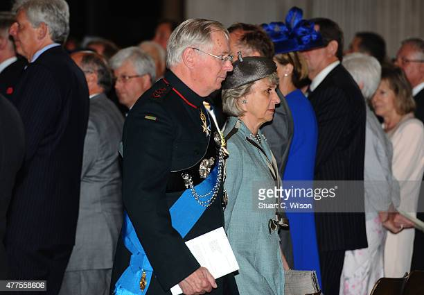 Prince Richard Duke of Gloucester and Princess Alice Duchess of Gloucester attend a National service to mark the 200th anniversary of the Battle of...