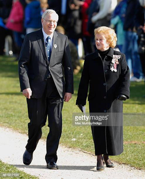 Prince Richard, Duke of Gloucester attends a service in the presence of a coffin containing the remains of King Richard III at Bosworth Battlefield...