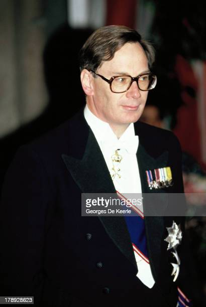 Prince Richard Duke of Gloucester attends a State Banquet on April 18 1990 in London England