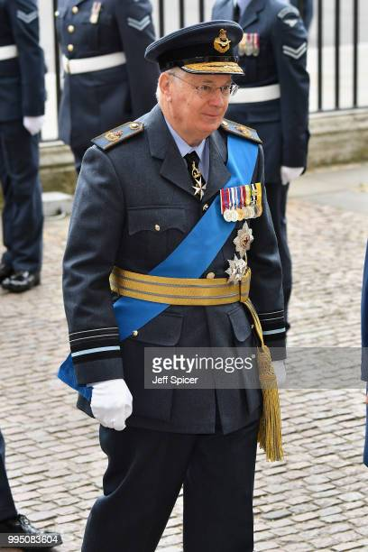 Prince Richard Duke of Gloucester attends as members of the Royal Family attend events to mark the centenary of the RAF on July 10 2018 in London...