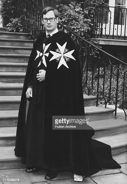 Prince Richard, Duke of Gloucester, wearing the robes of the Grand Prior of the Most Venerable Order of the Hospital of Saint John of Jerusalem, UK,...