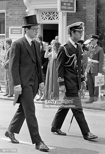 Prince Richard, Duke of Gloucester , with Prince Charles at the funeral of the former's father, Prince Henry, at Windsor on 12th June 1974.