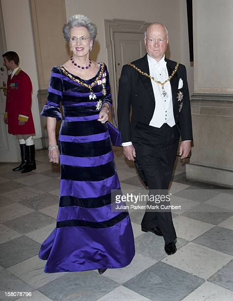 ** ** Prince Richard Of Denmark And Princess Benedikte Of Denmark Arriving At A Gala Dinner At Christiansborg Palace To Celebrate 40 Years On The...
