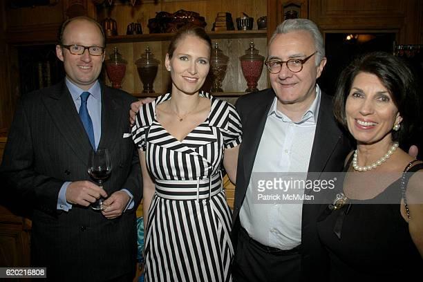 Prince Robert de Luxembourg Gwenaelle Gueguen Alain Ducasse and Pamela Fiori attend Benoit Opening Party Hosted by Pamela Fiori and Alain Ducasse at...