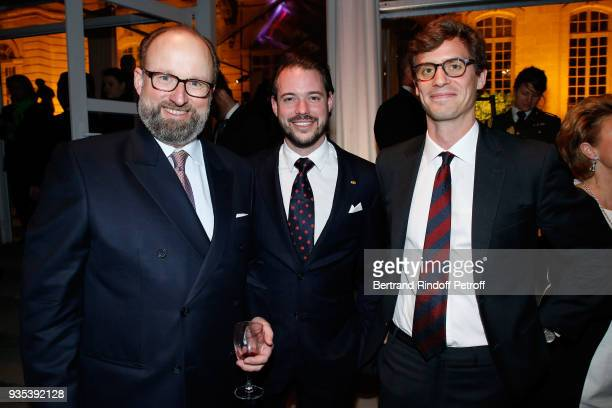 Prince Robert of Luxembourg, LL.AA.RR. Le Prince Felix of Luxembourg and Prince Josef-Emanuel of Liechtenstein attend the Reception given by...