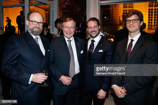 Prince Robert of Luxembourg Prince Jean of Luxembourg LLAARR le Prince Felix of Luxembourg and Prince JosefEmanuel of Liechtenstein attend the...