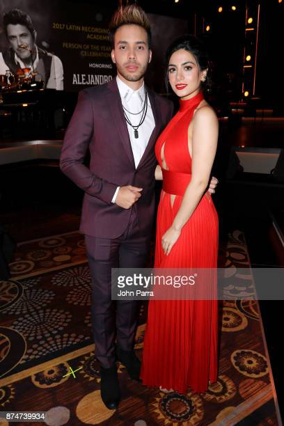 Prince Royce and Emeraude Toubia attend the 2017 Person of the Year Gala honoring Alejandro Sanz at the Mandalay Bay Convention Center on November 15...