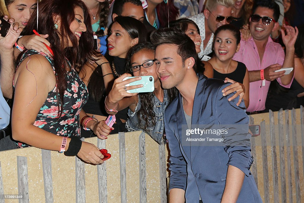 Prince Royce attends Univision's Premios Juventud at Bank United Center on July 18, 2013 in Miami, Florida.