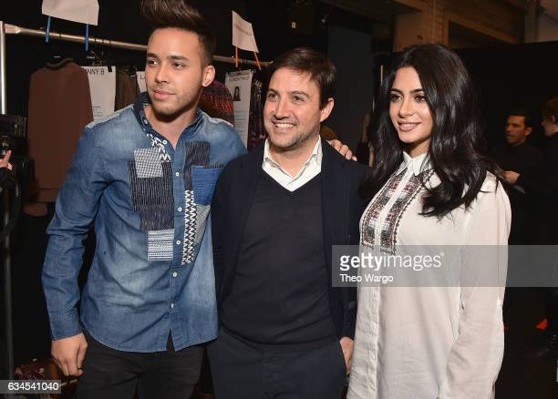 Prince Royce Daniel Perez and Emeraude Toubia attend the Desigual fashion show during New York Fashion Week at Gallery 1 Skylight at Clarkson Sq on...