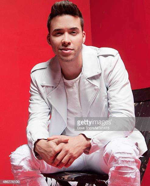 Prince Royce is photographed at the 2015 MTV VMA Awards on August 30 2015 at the Microsoft Theater in Los Angeles California