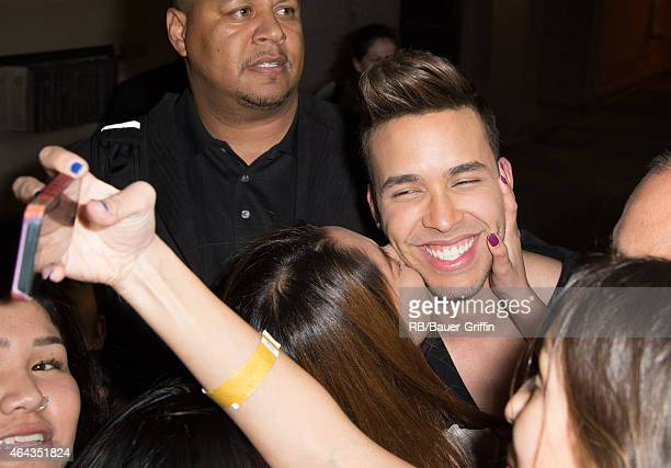 Prince Royce is seen at 'Jimmy Kimmel Live' on February 25 2015 in Los Angeles California