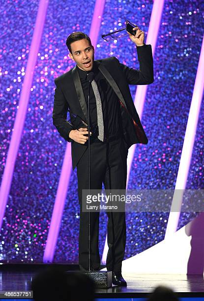 Prince Royce onstage during the 2014 Billboard Latin Music Awards at Bank United Center on April 24 2014 in Miami Florida