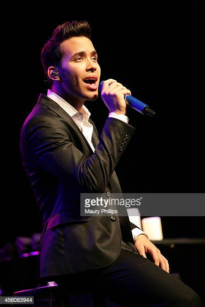 Prince Royce performs at the Latin GRAMMY Acoustic Sessions LA with Prince Royce at the Fonda Theatre on September 24 2014 in Los Angeles California