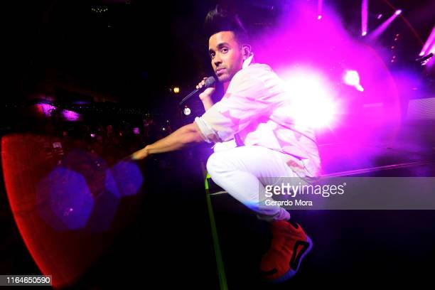 Prince Royce performs during MLS AllStar Concert presented by Target at Wall Street Plaza on July 27 2019 in Orlando Florida