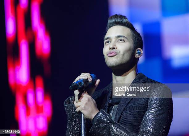 Prince Royce performs in concert at Rosemont Theatre on August 21 2014 in Chicago Illinois