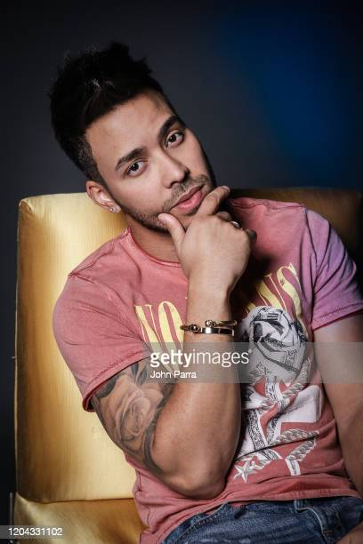 Prince Royce portrait shoot during his visit to La Musica Studio on February 05 2020 in Miami Florida