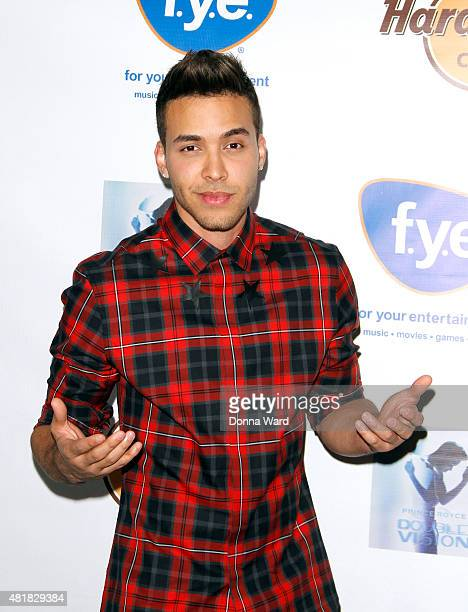 Prince Royce poses before greeting fans at the 'Double Vision' album release event at Hard Rock Cafe Yankee Stadium on July 24 2015 in New York City