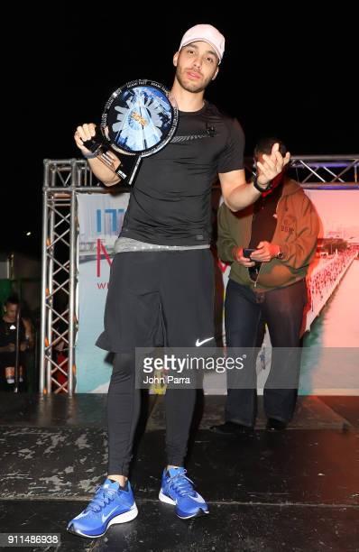 Prince Royce serves as Grand Marshall for the Fitbit Miami Marathon on January 28 2018 in Miami Florida