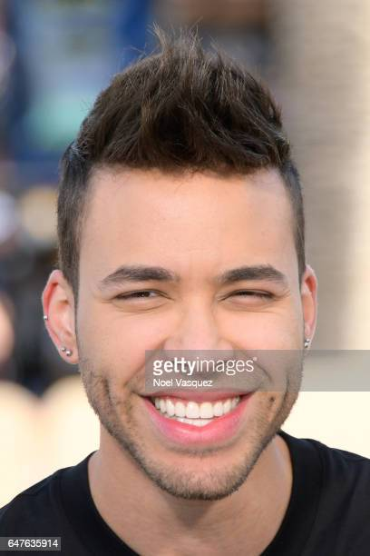Prince Royce visits 'Extra' at Universal Studios Hollywood on March 3 2017 in Universal City California