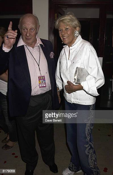 Prince Rupert Lewenstein and his wife attend the Rolling Stones end of tour party held at the Shepherds Bush Bingo Hall on September 15th 2003 in...