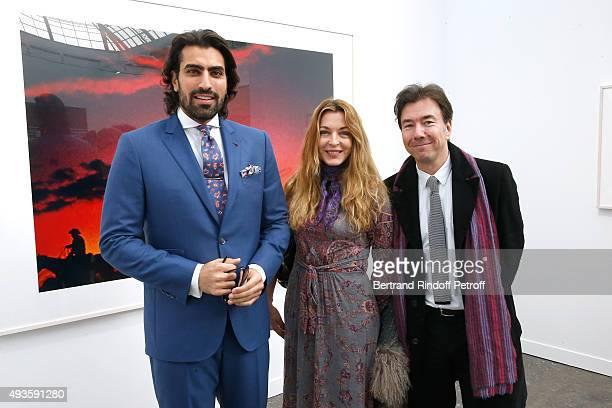 Prince Salman Bin Abdulaziz Al Saud Arabelle Reille Mahdavi and Guest attend the 'FIAC 2015 International Contemporary Art Fair' at Le Grand Palais...