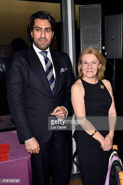 Prince Salman Bin Abdulaziz Bin Salman al Saud and President of the Versailles Castle Catherine Pegard attend the 'Societe des amis du Musee D'Art...