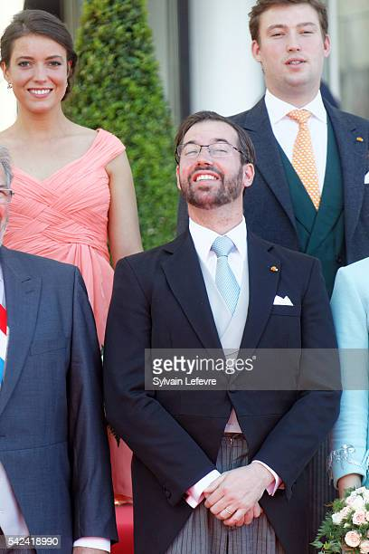Prince Sebastien and Princess Alexandra of Luxembourg and Prince guillaume celebrate National Day 2 at Philarmonie on June 23 2016 in Luxembourg...