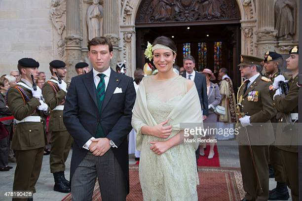 Prince Sebastien and Princess Alexandra of Luxembourg assist National Day on June 23 2015 in Luxembourg Luxembourg