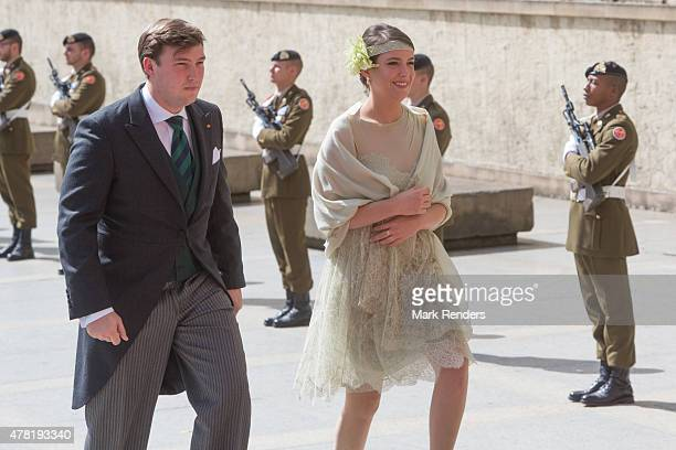 Prince Sebastien and Princess Alexandra of Luxembourg assist National Day on June 23, 2015 in Luxembourg, Luxembourg.