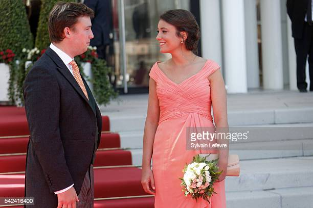 Prince Sebastien and Princess Alexandra of Luxembourg celebrate National Day 2 at Philarmonie on June 23 2016 in Luxembourg Luxembourg