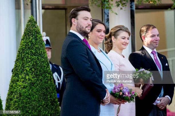 Prince Sebastien of Luxemboug Princess Alexandra of Luxembourg Hereditary Grand Duchess Stephanie of Luxembourg and Hereditary Grand Duke Guillaume...