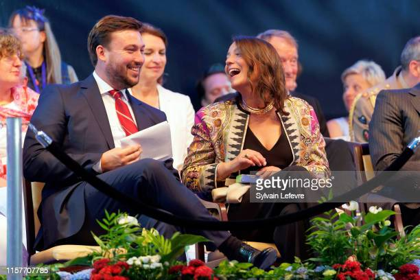Prince Sebastien of Luxembourg and Princess Alexandra of Luxembourg celebrates National Day on June 22 2019 in Luxembourg Luxembourg