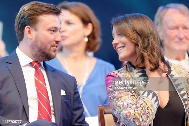 Prince Sebastien of Luxembourg and Princess Alexandra of Luxembourg celebrates National Day on June 22, 2019 in Luxembourg, Luxembourg.