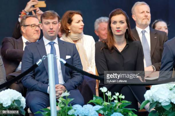 Prince Sebastien of Luxembourg and Princess Claire celebrate National Day on June 22 2018 in Luxembourg Luxembourg