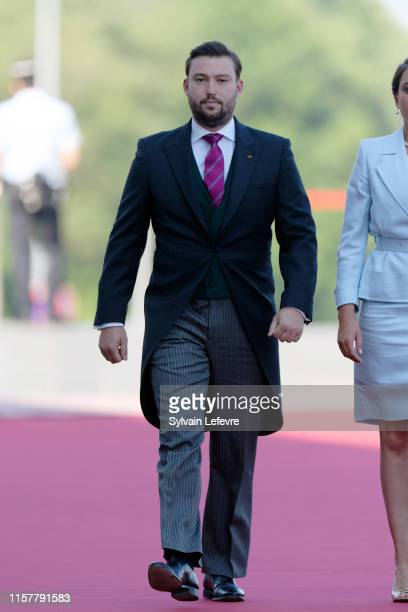Prince Sebastien of Luxembourg arrives at the Philharmonie for the concert on the National Day on June 23 2019 in Luxembourg Luxembourg