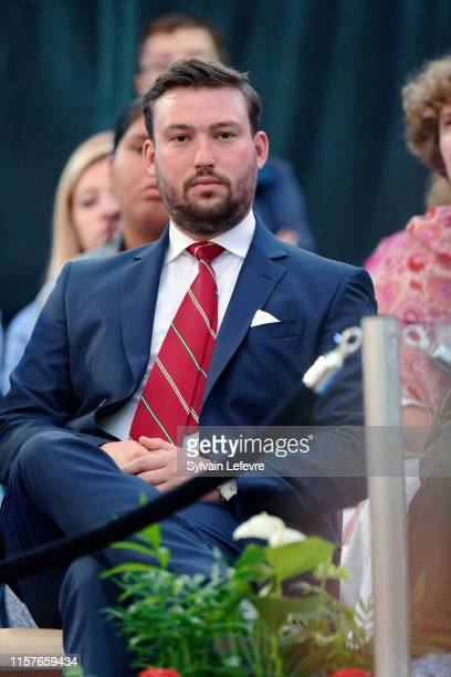 Prince Sebastien of Luxembourg celebrates National Day on June 22 2019 in Luxembourg Luxembourg