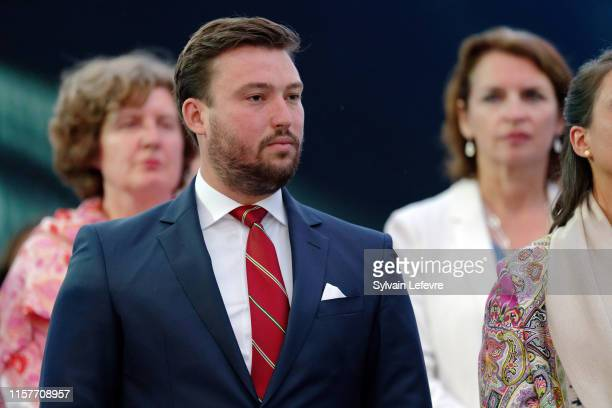 Prince Sebastien of Luxembourg celebrates National on June 22 2019 in Luxembourg Luxembourg