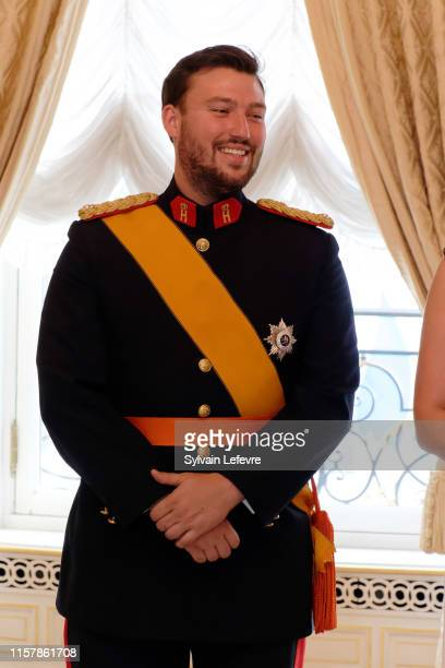 Prince Sebastien of Luxembourg during the reception at the Grand Ducal Palace on the National Day on June 23 2019 in Luxembourg Luxembourg